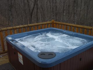 Berkeley Springs cabin photo - hot tub on cedar deck