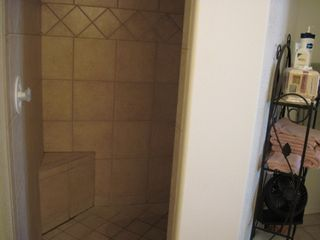 Lake Havasu City house photo - Master bath with walk in shower with built in seat