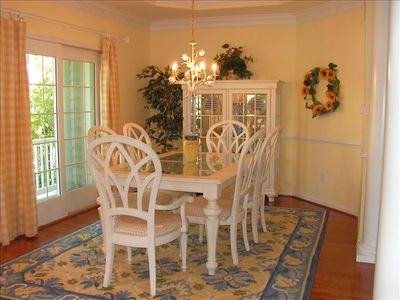 Dining Room with french doors to wrap-around porch