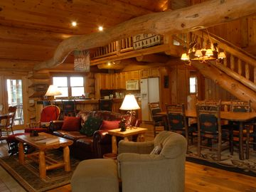 Grand Rapids lodge rental - Experience this fine craftsmanship and comfort of a real log home.