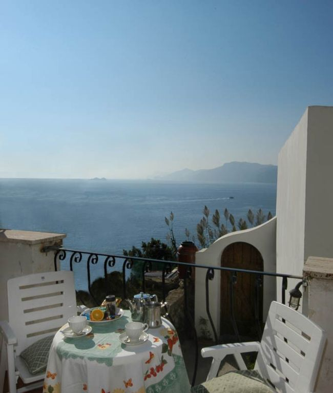 Amalfi Coast Villa delle Rose - Terrace on Li Galli Islands