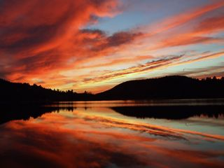Brant Lake cabin photo - Spectacular Sunsets.