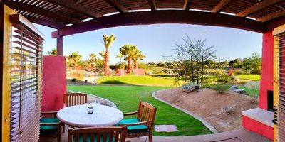 Patio of a Two Bedroom Unit at the Club Intrawest Palm Desert