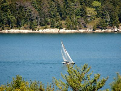 Hyland Cottage has a peek of the famous Somes Sound