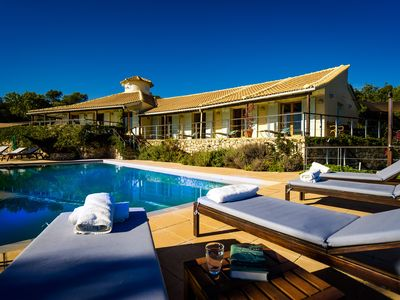 Grand Designs featured villa, large private pool with panoramic sea views