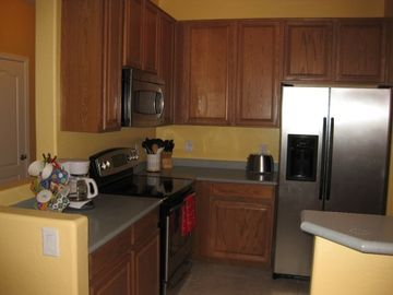 Full kitchen with microwave, large side by side, dishwasher, coffee pot ect.