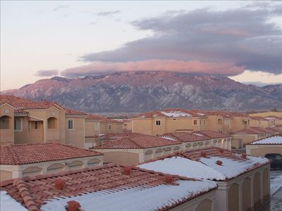 View of Sandia Mountain from Condo Balcony (picture taken from Balcony)