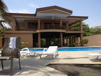 Puntarenas City estate rental - View of the house from the beach