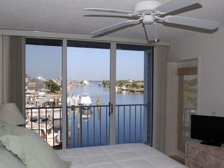 Vero Beach condo photo - Master Bedroom with direct harbor front view