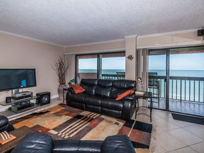 46 inch flat LED TV - Condo is tiled all throughout....