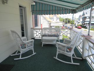 Cape May condo photo - Enjoy the covered veranda