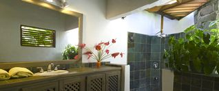 Romantic outdoor shower - Cap Estate villa vacation rental photo