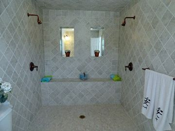 Master Bedroom Ensuite Bathroom with 2 person shower.