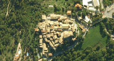 Arial view of Carros Village