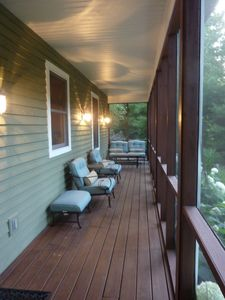 New Buffalo house rental - Screened in porch.