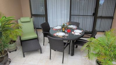 Enjoy fine or casual dining on the lanai...