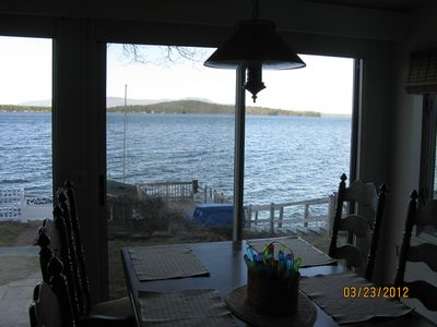 Here is the view of the lake from one of the three sliders lakeside.