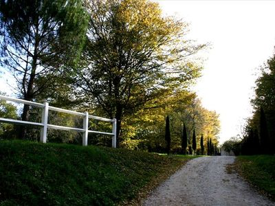 Private road to the villa