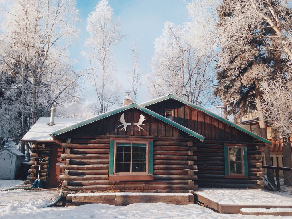 Experience Alaska In Your Very Own Private Log Cabin Built