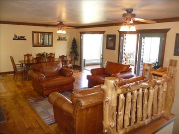 Heber City house rental - Main floor family room and dining area.