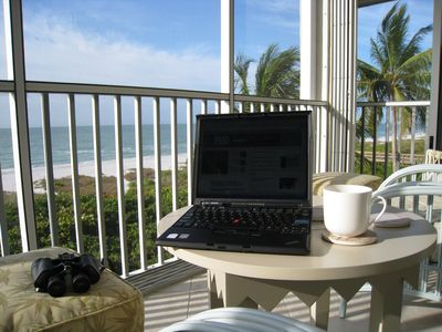 This could be your office! 2 Lanai Ceiling Fans create a perfect breeze.