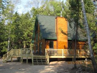 Munising cottage photo - Beautiful upscale log style cottage in rustic surroundings.