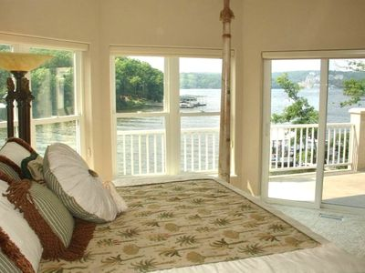 Master Bedroom with great lake views
