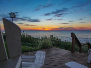 New Buffalo house photo - Sunset views from the gazebo deck with a Purple Martin birdhouse too!