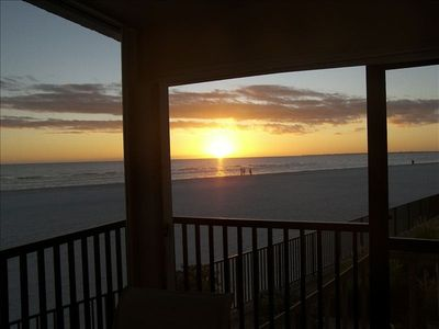 Watch the sunset from the condo lanai