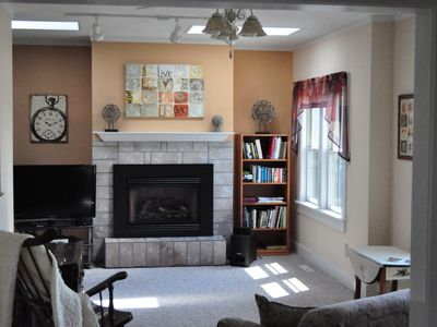 Warm your stay with this cozy gas fireplace.