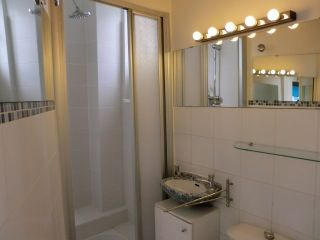 Bathroom 2, samll size, with miniwashbasin and toilets, ground floor