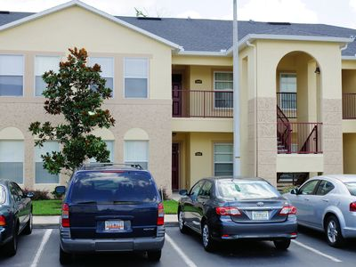 Exterior view - community has plenty of free parking spaces for our guests