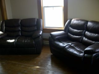 "Mahone Bay house photo - Theatre room recliners view the 50"" flatscreen."