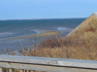 Eastham house photo - View of Wellfleet from beach deck.