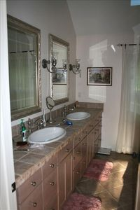 Beautiful Master bath with shower for two.