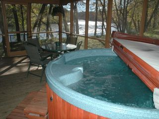 Luray cabin photo - View of River from Hot Tub