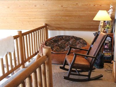 Brian Head cabin rental - Enjoy a great book in the loft, or relax and enjoy the spectacular view