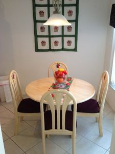 The kitchen 'Breakfast nook' or the 'children's dinning room'