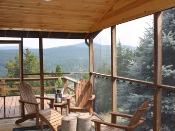 Enjoy your morning coffee on the screened-in porch!