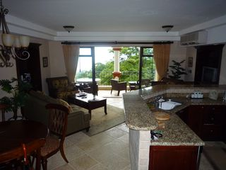 Manuel Antonio condo photo - The Main Living room with Terrace