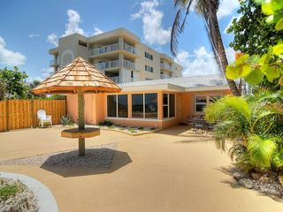 Cocoa Beach house photo - Large, private oceanfront deck