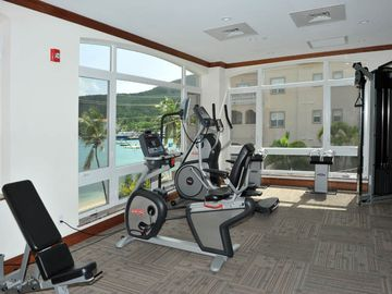Gym overlooking paradise