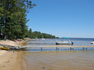 Black Lake house photo - View of shoreline to the North