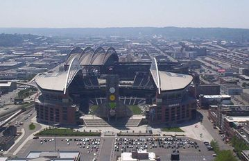 Centurylink Field Home of the Seattle Seahaws in walking distance from the ferry
