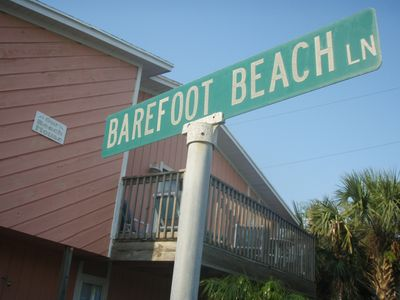 Come play and relax on Barefoot Beach Lane!  Only steps from the beach!