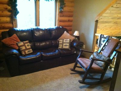 Estes Park cabin rental - Loft/ Reading room, hide a bed. Full bed if needed