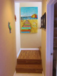 Mission Beach house rental - Stairs to master suite