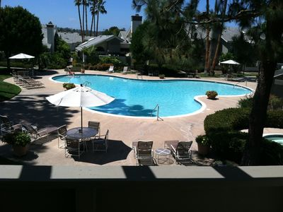 View of pool from master BR deck