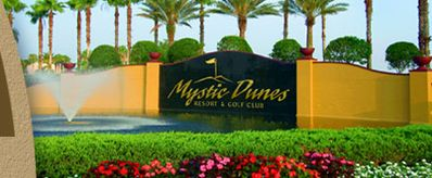 Entrance at Mystic Dunes Resort