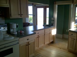 Mahone Bay house photo - Open kitchen commands view of the party and ocean beyond